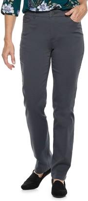 Croft & Barrow Women's Effortless Stretch Straight-Leg Pants
