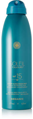 Soleil Toujours Spf15 Organic Sheer Sunscreen Mist, 177ml - Colorless