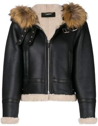 Barbara Bui zipped shearling jacket