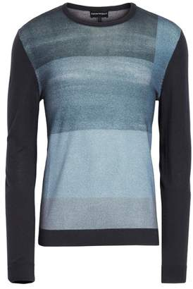 Emporio Armani Crewneck Colorblock Slim Fit Sweater