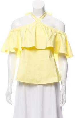 Rebecca Taylor Off-The-Shoulder Halter Blouse