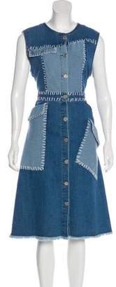 House of Holland Sleeveless Denim Dress