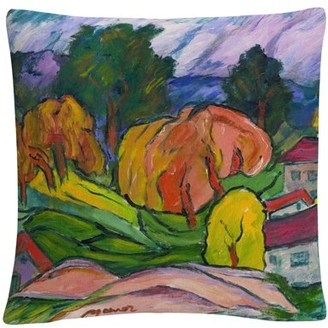 Trademark Fine Art Haiku' Tuscan Bold Abstract By Masters Fine Art 16 X 16 Decorative Throw Pillow