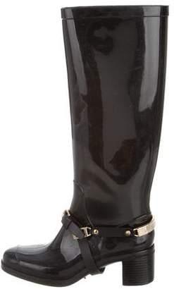 Jimmy Choo Rubber Knee-High Rain Boots