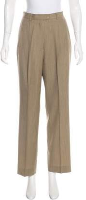 Façonnable Wool High-Rise Pants