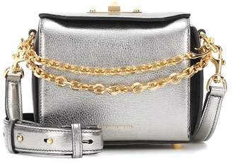 Alexander McQueen Box 16 metallic leather shoulder bag