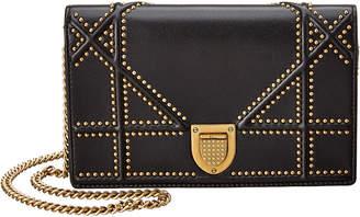 Christian Dior Diorama Leather Clutch
