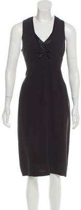 Sonia Rykiel Bow-Accented Midi Dress