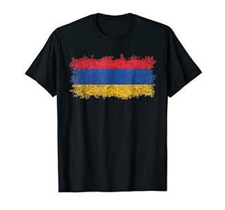 Armenian Flag T-Shirt with Distressed MEGATEX Texture