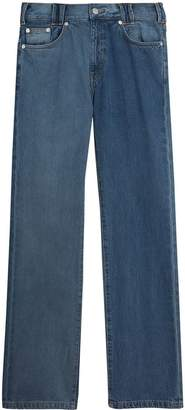 Burberry Straight Fit Two-tone Jeans