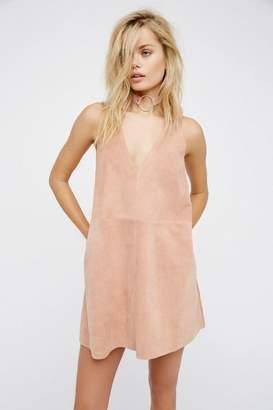Retro Love Suede Mini Dress