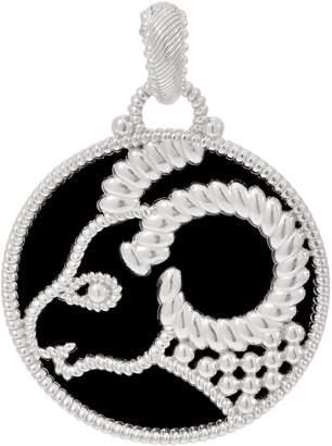 Judith Ripka Verona Sterling Silver Onyx Zodiac Enhancer