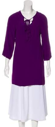 Diane von Furstenberg Scoop Neck Long Sleeve Tunic