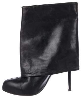 Giuseppe Zanotti Leather Round-Toe Ankle Boots
