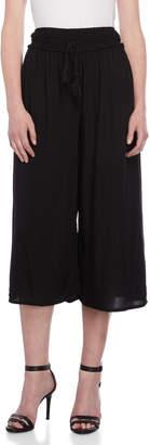 Shinestar Gaucho Ruched Drawstring Cropped Pants