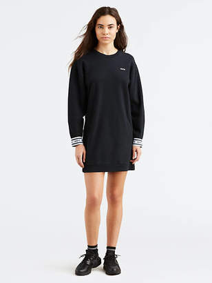 Levi's Long Sleeve Sweatshirt Dress