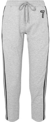 Markus Lupfer Daria Striped Embellished Jersey Track Pants - Gray