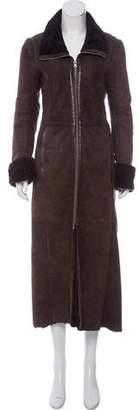 Emporio Armani Long Shearling Coat