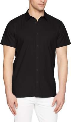Calvin Klein Men's Short Sleeve Woven Button Down Shirt