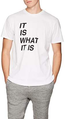 "Rag & Bone Men's ""It Is What It Is"" Cotton T-Shirt - White"