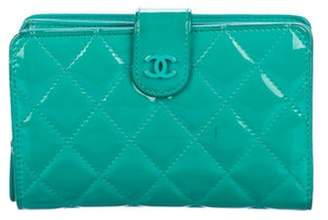 Chanel Quilted French Purse Wallet Turquoise Quilted French Purse Wallet