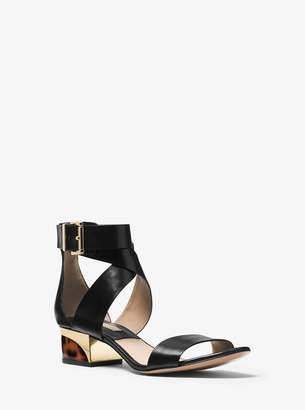 Michael Kors Tulia Calf Leather Sandal