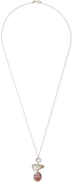 Melissa Joy Manning 14-karat Gold, Sterling Silver, Quartz And Agate Necklace