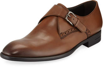 Ermenegildo Zegna Men's New Flex Monk-Strap Shoes, Brown