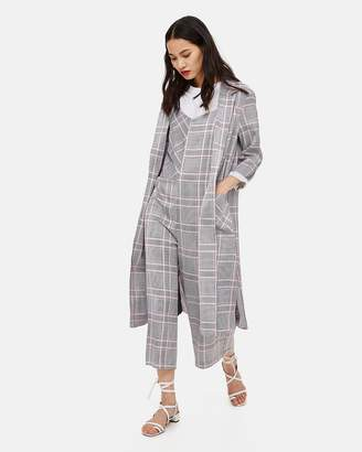 Topshop Checked Duster Coat
