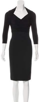 Max Mara Three-Quarter Sleeve Midi Dress