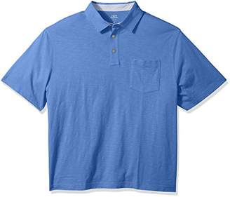 Izod Men's Big and Tall Saltwater Chest Pocket Slub Polo
