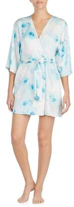 Kate Spade Print Charmeuse Short Robe