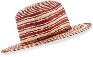 Yestadt Millinery Somba Patterned Straw Fedora Hat