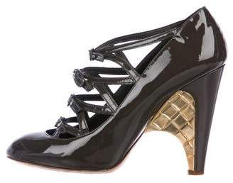 Chanel Patent Leather Buckled Pumps