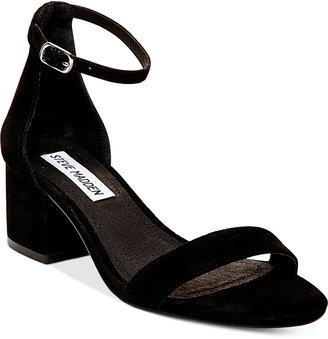 Steve Madden Women's Irenee Two-Piece Block-Heel Sandals $79 thestylecure.com