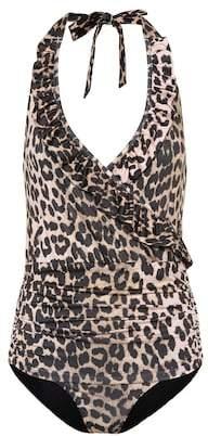 Ganni Leopard-printed swimsuit
