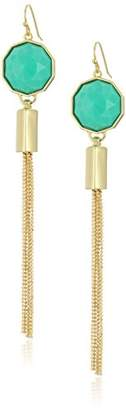 Trina Turk Stone with Tassel Teal Drop Earrings