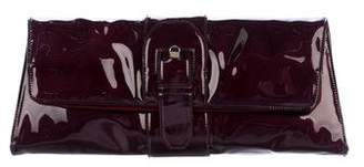 Christian Louboutin Patent Leather Buckle Clutch w/ Tags