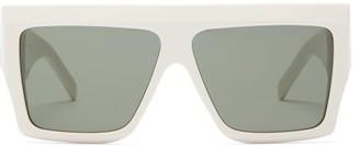 Celine Rectangle Acetate Sunglasses - Womens - White