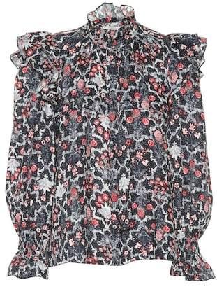 Etoile Isabel Marant Isabel Marant, Étoile Printed linen blouse