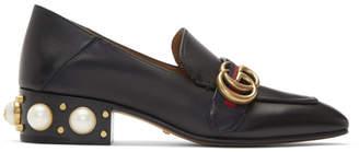 Gucci Black Peyton Pearl Loafers