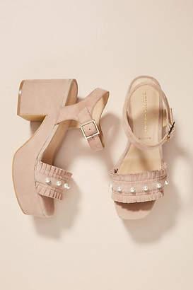 Bruno Premi Pearled Platform Sandals