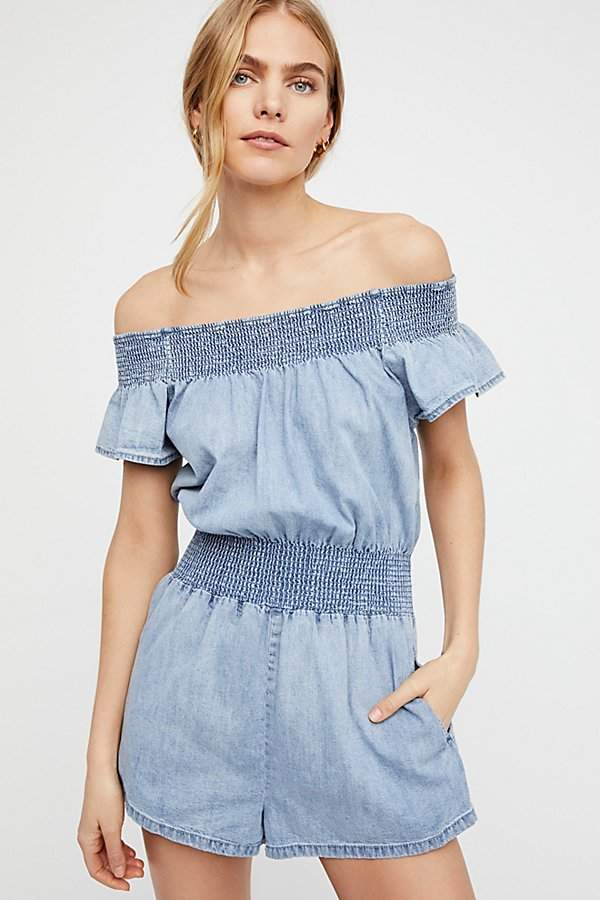 Wild Winds Smocked Romper by Free People