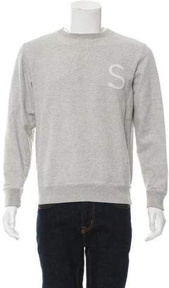 Saturdays NYC Embroidered Crew Neck Sweatshirt