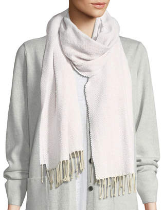 Eileen Fisher Recycled Cotton Herringbone Scarf