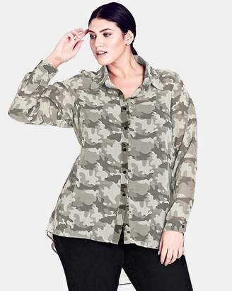 City Chic Camo Shirt