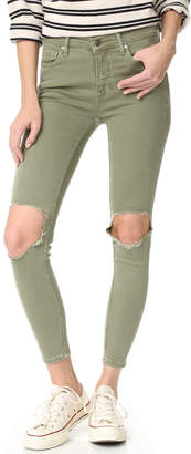 Free People High Rise Busted Skinny Jeans $78 thestylecure.com