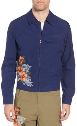 French Connection Embroidered Poplin Harrington Jacket