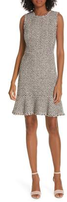 Rebecca Taylor Houndstooth Tweed Dress