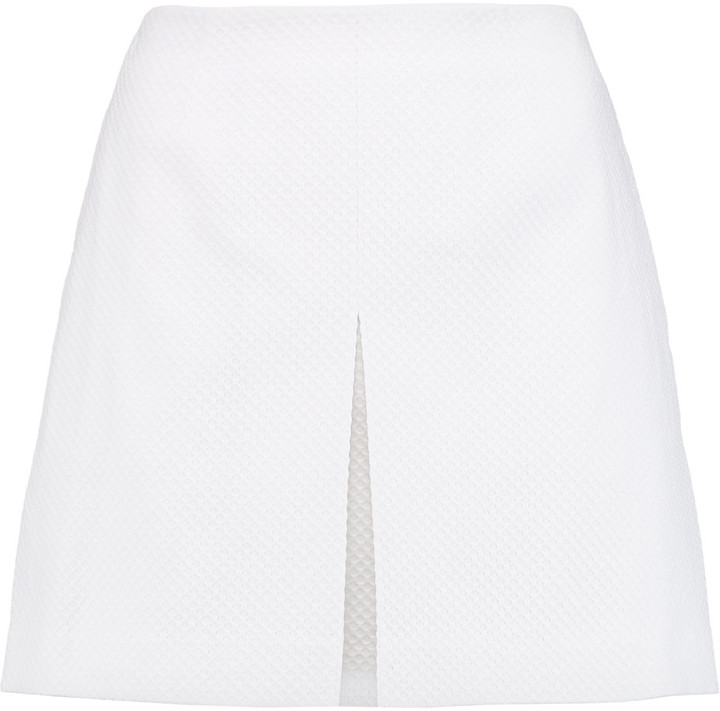 Tory Burch Tory Burch Cotton-blend piqué mini skirt